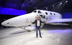 Richard Branson's new spaceship for tourists