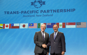 The U.S. and 11 countries signed the agreement on TRANS-Pacific partnership