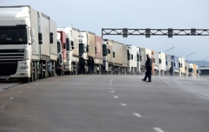 In Lithuania there is no queue of trucks at the border with Kaliningrad region