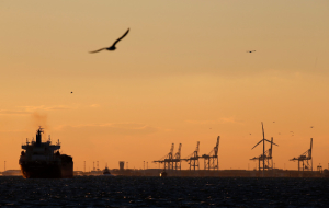 Media reported about the glut of tankers near Rotterdam