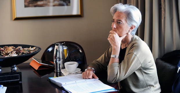 The head of the IMF warned of further weakening in global economic growth