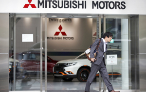 Shares of Mitsubishi record fell because of fuel scandal
