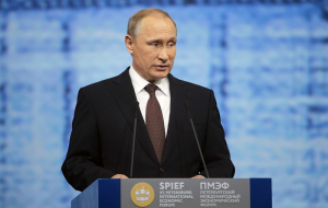 Putin said the continuing problems in the global economy