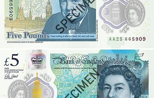 The Bank of England introduced the first plastic banknote
