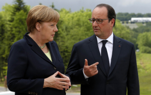 Merkel and Hollande approved the extension of anti-Russian sanctions
