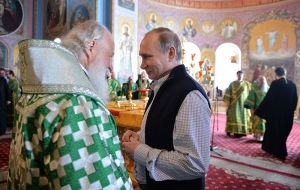 Putin came to Liturgy at Valaam monastery