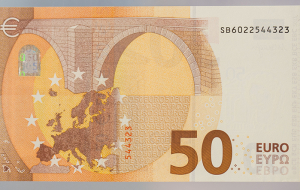 In Europe, introduced an updated bill of €50