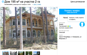 The cottage of Serdyukov's son near St. Petersburg put up for sale on Amazon