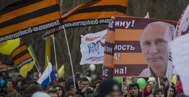 At the festival the anniversary of the annexation of Crimea has found the paid extras