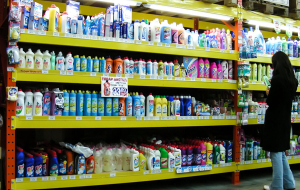 The Russians reduced the purchase of detergents and household chemicals