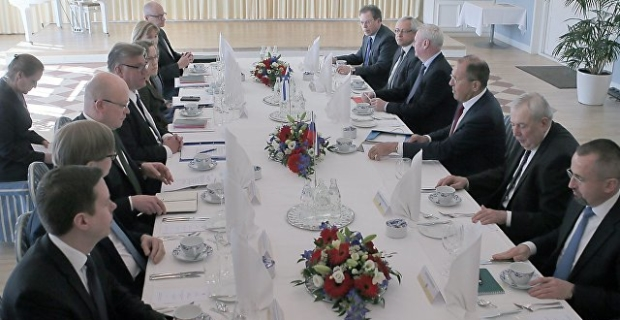 Lavrov discussed with the head of the Finnish foreign Ministry, the relations between Russia and the European Union