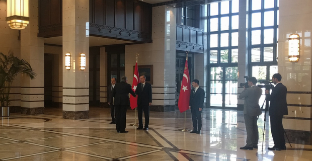 New Russian Ambassador to Turkey presented his credentials to erdoğan