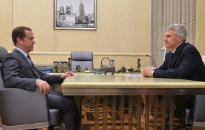 Parfenchikov told Medvedev about the plans for socio-economic development of Karelia