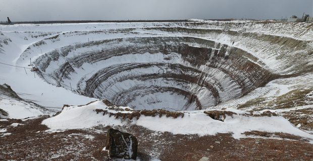 "The company ""ALROSA"" has extracted two large diamond in Yakutia"