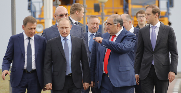 Putin took part in the start-up of a third plant Lebedinsky mining and processing plant