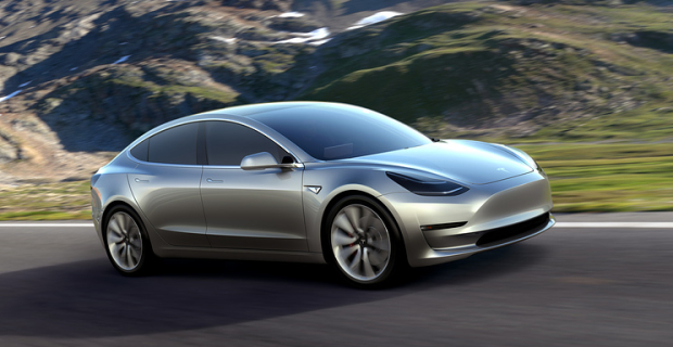 Elon musk presented the first production electric car Model 3