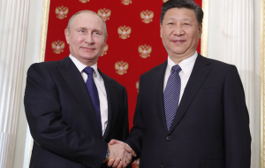 Putin greeted XI Jinping in the Kremlin