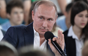 Putin has not excluded that will take part in the election of 2018